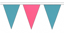 MADE TO ORDER SUPERIOR COLOURED TRIANGULAR BUNTING